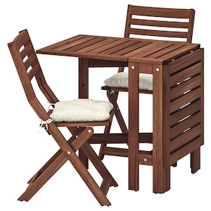 Table And 2 Folding Chairs Outdoor