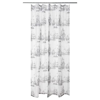 "AGGERSUND Shower curtain, gray, 71x71 """