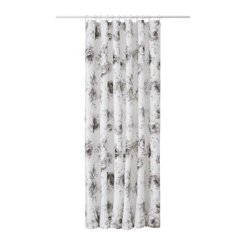 AGGERSUND Shower curtain, gray, white