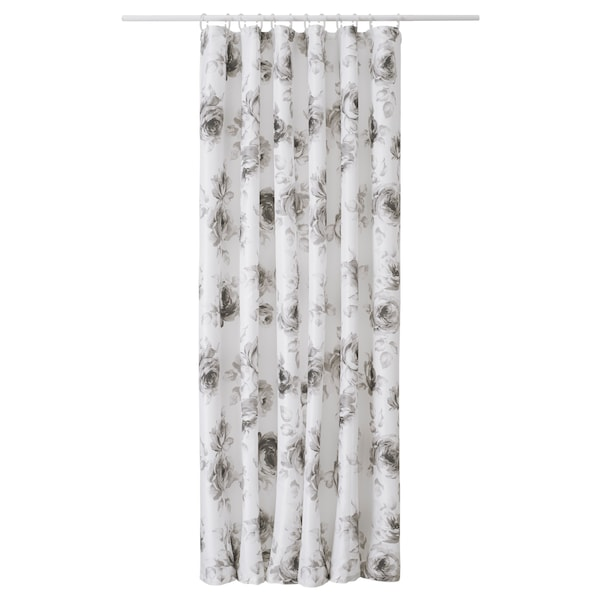 Aggersund Shower Curtain Gray White Ikea