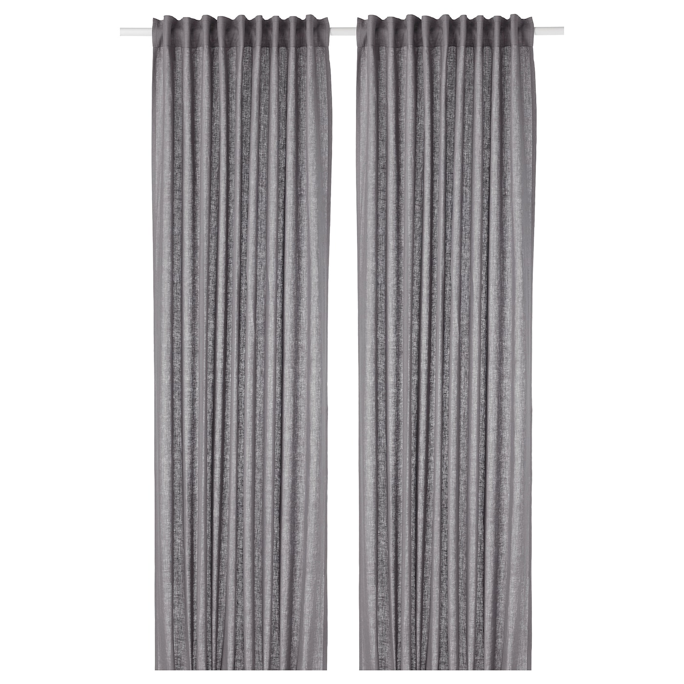 Aina Curtains 1 Pair Dark Gray Ikea