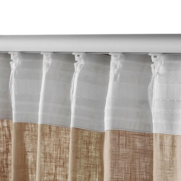 Aina Curtains 1 Pair Beige 57x98 Ikea