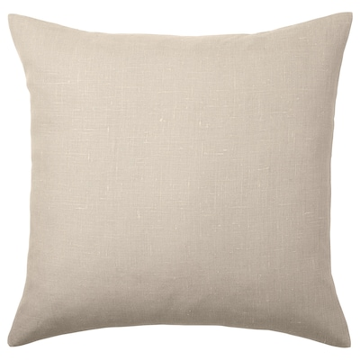 AINA Cushion cover, beige, 20x20 ""