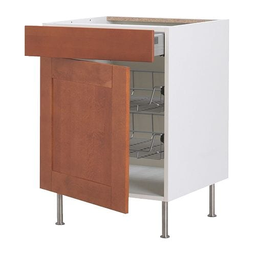 AKURUM Base cab w wire basket/drawer/door IKEA