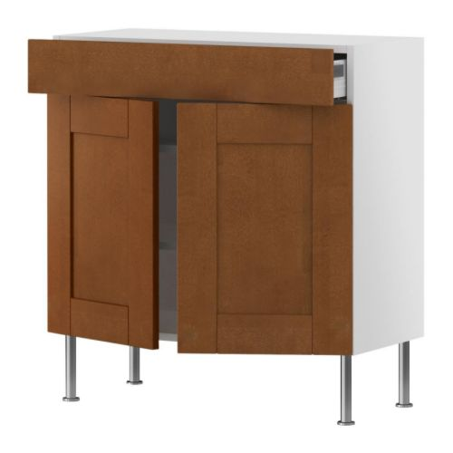 AKURUM Base cabinet/shelves/drawer/2 doors IKEA
