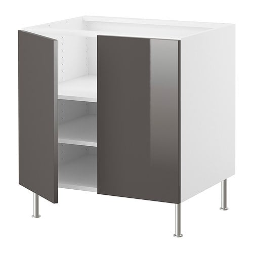 "AKURUM Base cabinet w shelf/2 doors IKEA Adjustable shelf; adapt spacing to your own storage needs.  Sturdy frame construction, 3/4"" thick."