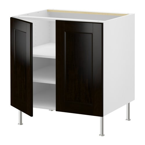 AKURUM Base cabinet w shelf/2 doors IKEA You can customize spacing as needed, because the shelf is adjustable.