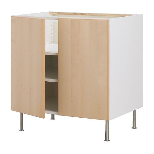 "AKURUM Base cabinet w shelf/2 doors IKEA Adjustable shelf; adapt spacing to your own storage needs.  Sturdy construction- 3/4"" (19mm) thick."