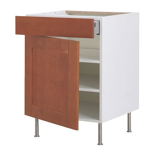 AKURUM Base cabinet w shelf/drawer/door IKEA The drawer closes slowly, quietly and softly thanks to the built-in dampers.