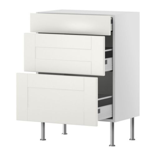 kitchens amp kitchen supplies ikea db33 3 shaker maple willow gray drawer base cabinet 3