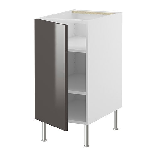 "AKURUM Base cabinet with shelves IKEA Adjustable shelf; adapt spacing to your own storage needs.  Sturdy construction- 3/4"" (19mm) thick."