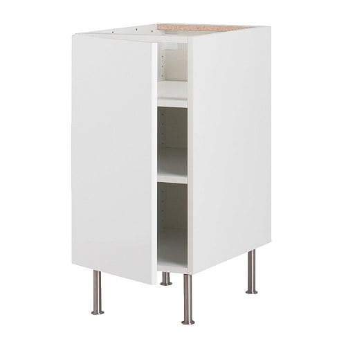 AKURUM Base cabinet with shelves IKEA Adjustable shelf; adapt spacing to your own storage needs.