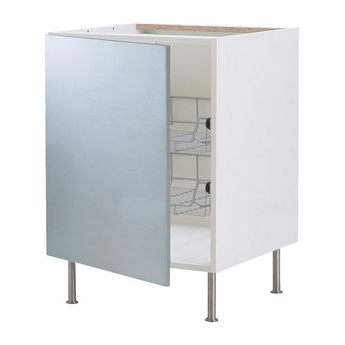 AKURUM Base cabinet with wire baskets IKEA You can customize spacing as needed, because the shelf is adjustable.