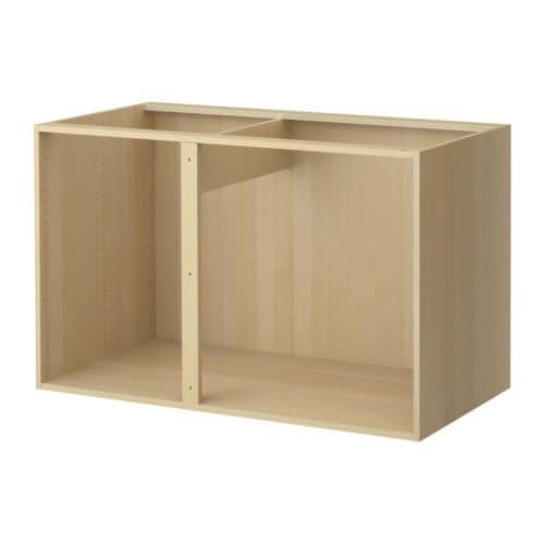 "AKURUM Base corner cabinet frame IKEA Sturdy frame construction, 3/4"" thick."