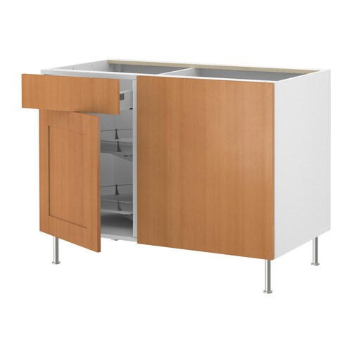 akurum base cabinet with pull out storage birch effect