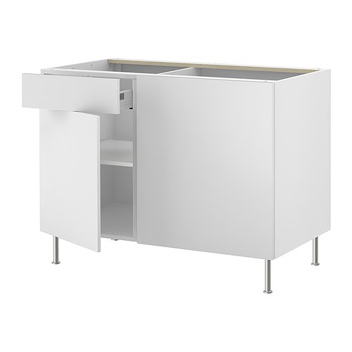 AKURUM Corner base cabinet with shelf IKEA You can customize spacing as needed, because the shelf is adjustable.