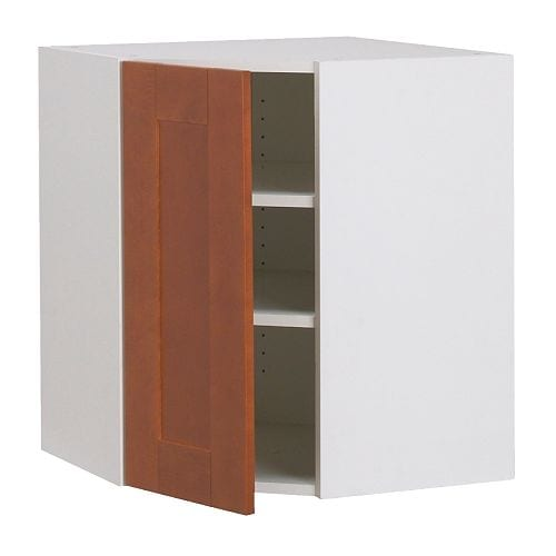 AKURUM Corner wall cabinet IKEA You can customize spacing as needed, because the shelf is adjustable.
