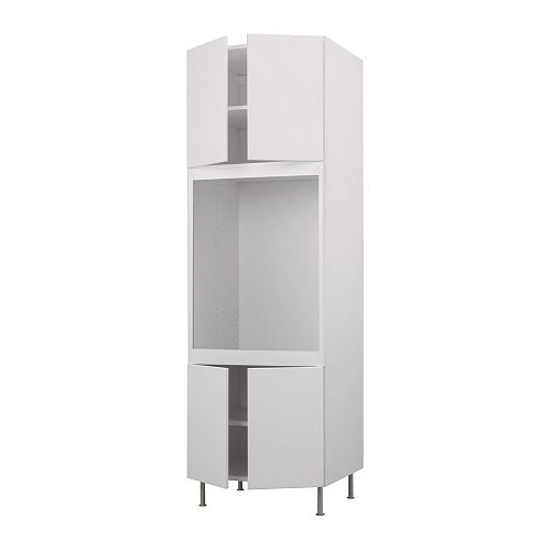 AKURUM High cabinet f single oven+4 doors IKEA Adjustable shelf; adapt spacing to your own storage needs.