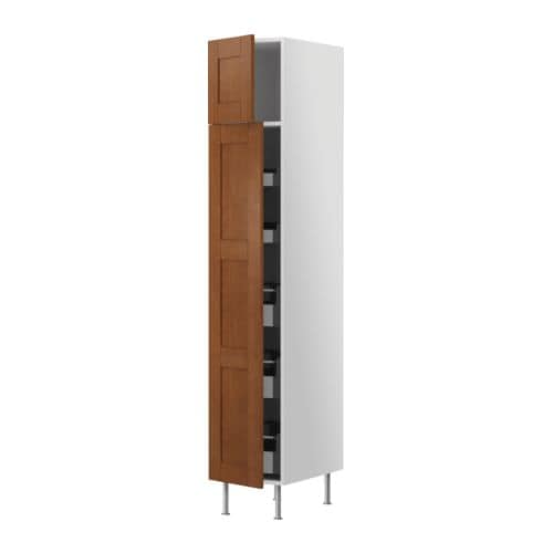 AKURUM High cabinet with drawers IKEA 153º opening angle; makes it easy to reach and pull out fully-extending drawers from a high cabinet, etc.