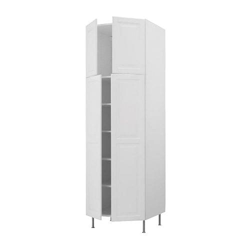 AKURUM High cabinet with shelves/4 doors IKEA You can customize spacing as needed, because the shelf is adjustable.