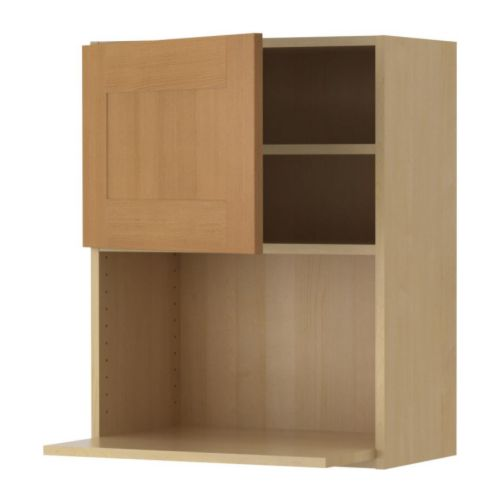 Akurum wall cabinet for microwave oven birch effect for Beech effect kitchen units