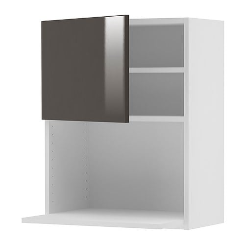 "AKURUM Wall cabinet for microwave oven IKEA You can choose to mount the door on the right or left side.  Sturdy frame construction, 3/4"" thick."
