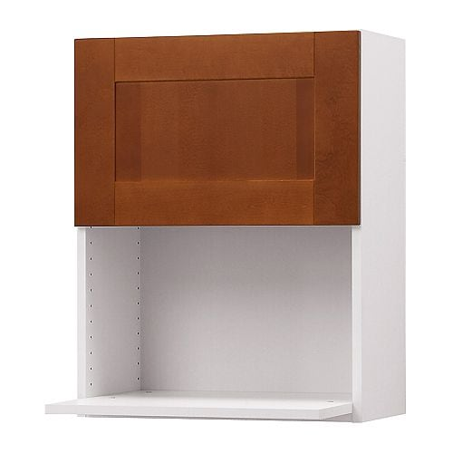 "AKURUM Wall cabinet for microwave oven IKEA The door can be mounted to open from the left or right.  Sturdy frame construction, 3/4"" thick."