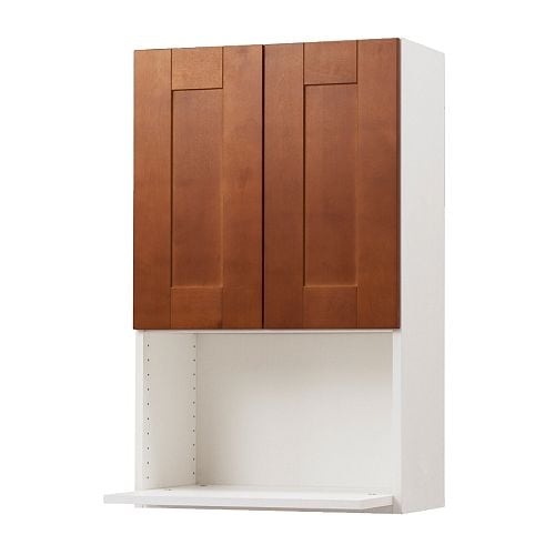 "AKURUM Wall cabinet for microwave oven IKEA Sturdy frame construction, 3/4"" thick.  Hinges with snap-on function."