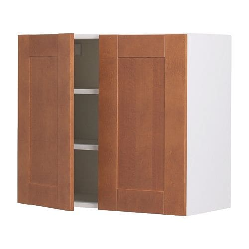 Akurum wall cabinet with 2 doors birch effect del - Ikea cabinet doors on existing cabinets ...