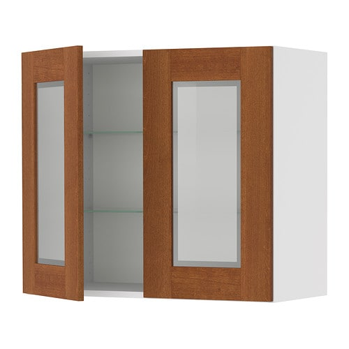 Wall cabinet with glass doors kitchens kitchen supplies for Ikea glass door wall cabinet