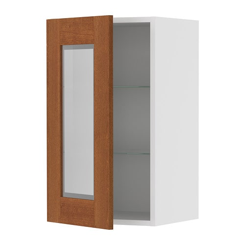 Glass door wall cabinet ikea for Glass kitchen wall units