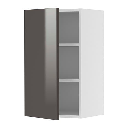 AKURUM Wall cabinet IKEA Adjustable shelf; adapt spacing to your own storage needs.  The door can be mounted to open from the left or right.