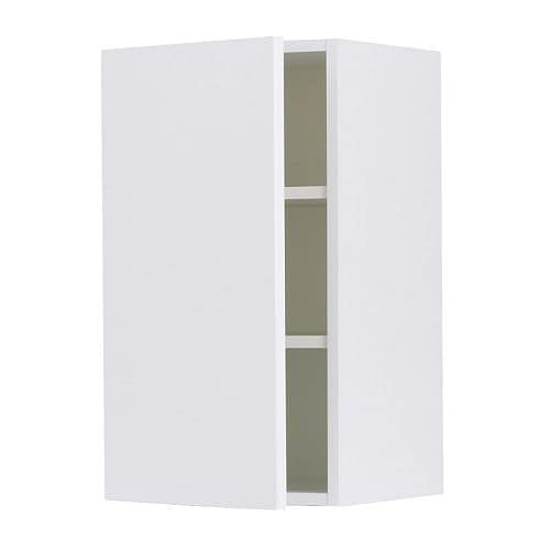 "AKURUM Wall cabinet IKEA You can customize spacing as needed, because the shelf is adjustable.  Sturdy frame construction, 3/4"" thick."