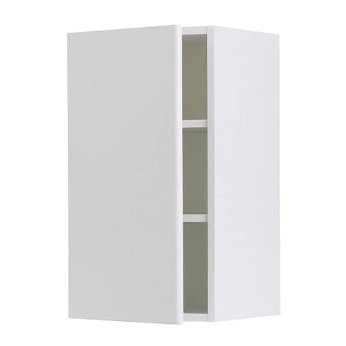 "AKURUM Wall cabinet IKEA Adjustable shelf; adapt spacing to your own storage needs.  Sturdy frame construction, 3/4"" thick."