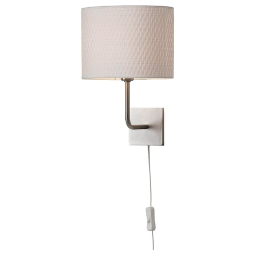 "ALÄNG wall lamp with LED bulb nickel plated/white 40 W 10 "" 9 "" 13 "" 6 ' 11 """