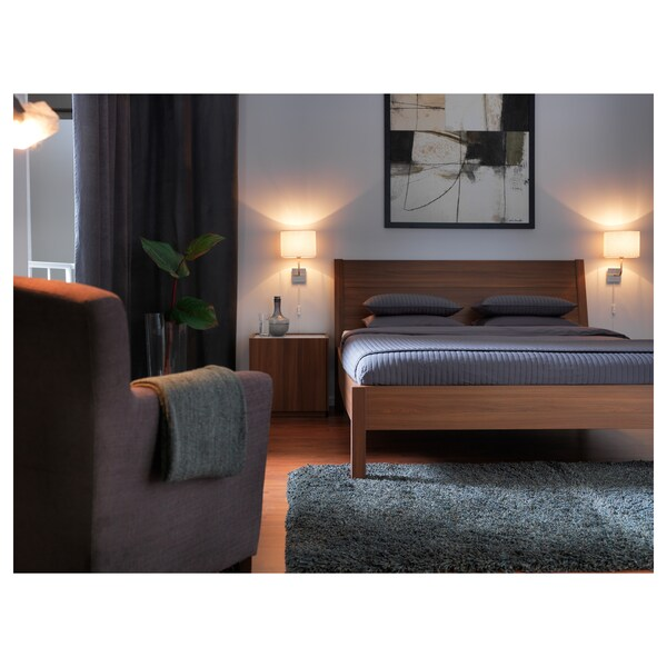 Wall lamp with LED bulb ALÄNG nickel plated, white