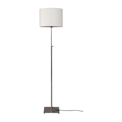 ALÄNG Floor lamp with LED bulb, nickel plated, white