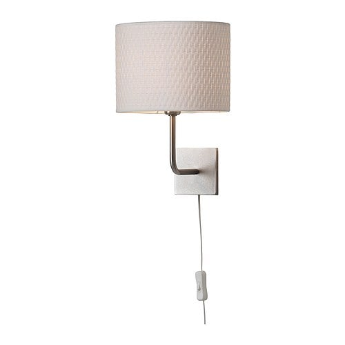 ALÄNG Wall lamp, nickel plated, white nickel plated/white -