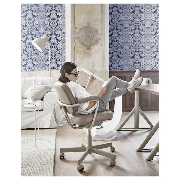 ALEFJÄLL Office chair, Grann beige