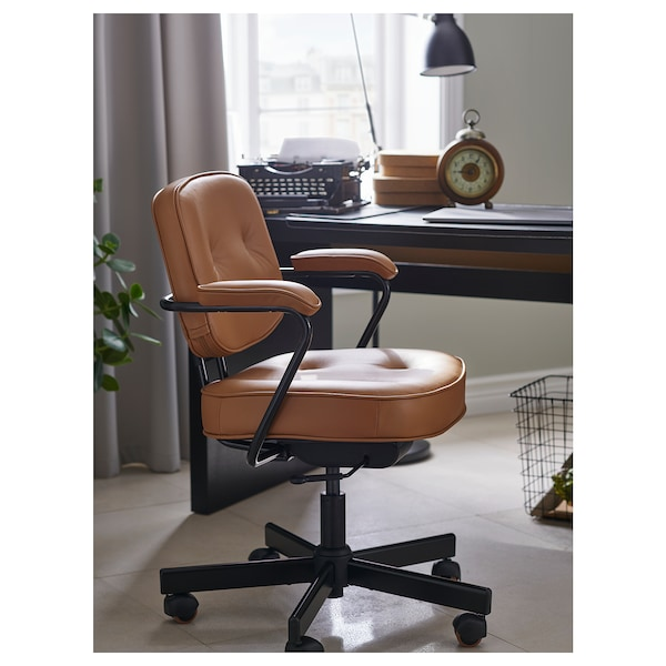 ALEFJÄLL Office chair, Grann golden brown