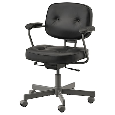 "ALEFJÄLL office chair Glose black 243 lb 25 1/4 "" 25 1/4 "" 37 3/8 "" 20 1/8 "" 16 1/2 "" 17 3/4 "" 22 """
