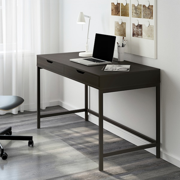 ALEX Desk, black-brown, 51 5/8x23 5/8 ""