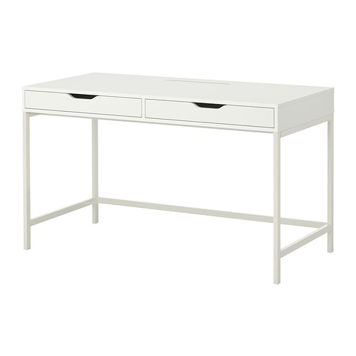 Alex desk white ikea for Bureau blanc ikea