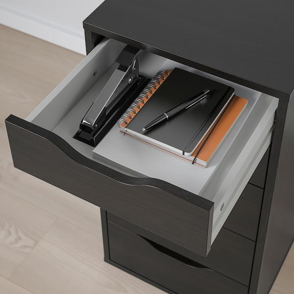"ALEX Drawer unit, black-brown, 14 1/8x27 1/2 """