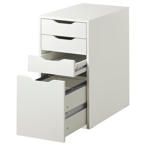 """ALEX Drawer unit/drop file storage, white, 14 1/8x27 1/2 """""""