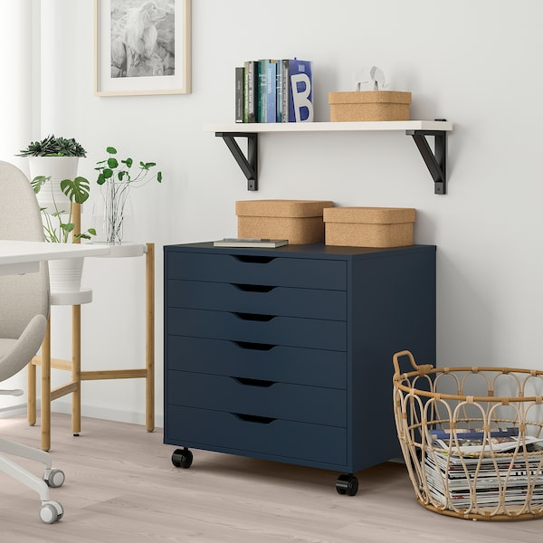 "ALEX drawer unit on casters blue 26 3/8 "" 18 7/8 "" 26 """