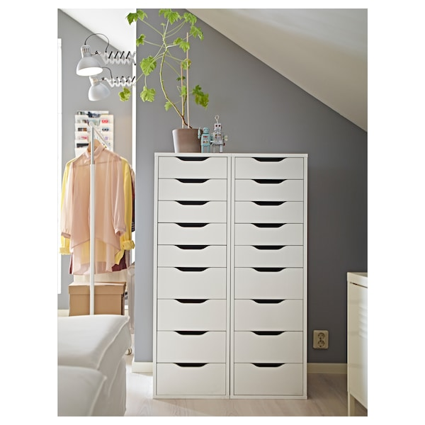 "ALEX Drawer unit with 9 drawers, white, 14 1/8x45 5/8"" - IKEA"