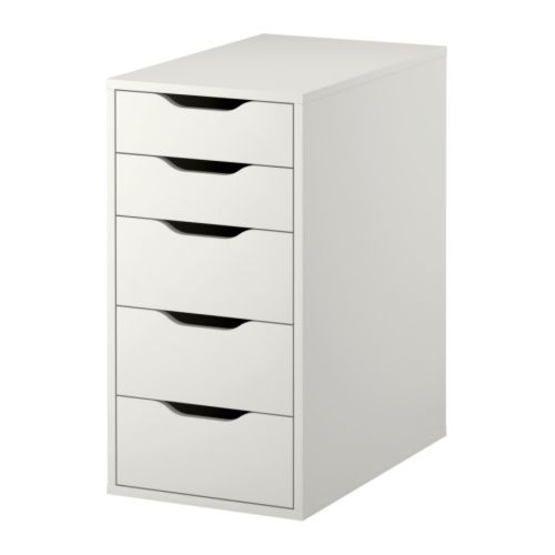 Alex drawer unit white ikea for Meuble blanc ikea