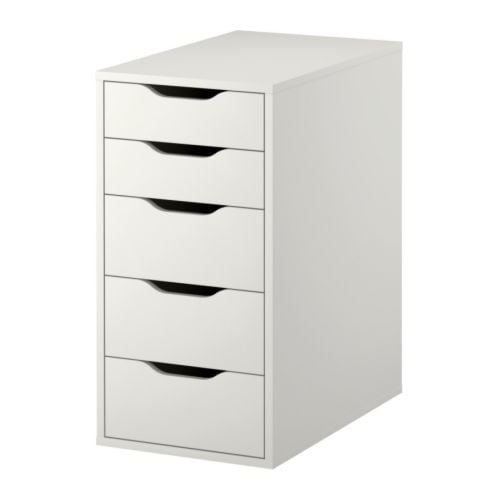 Alex drawer unit white ikea for Ikea meuble tiroir rangement