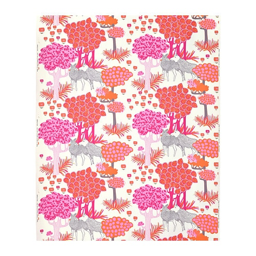 Sale alerts for Ikea ÄLGÖRT Fabric, moose, pink - Covvet
